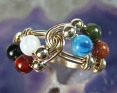Christian Jewelry -- Colors of Faith -- Wordless Book Wire Wrapped Ring