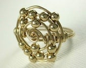 Personalized Atomic Elements Ring Silicon Atom Ring Wire Wrapped 14K Gold Filled Geek Ring