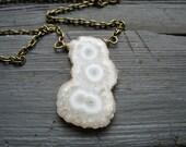 Solar Quartz Necklace, Quartz Necklace , handmade stone necklace,  Artisan Solar Quartz Jewelry,FREE Shipping