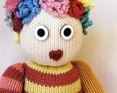 Knit Doll - One of A Kind - Cotton - Corn Fiber Filling