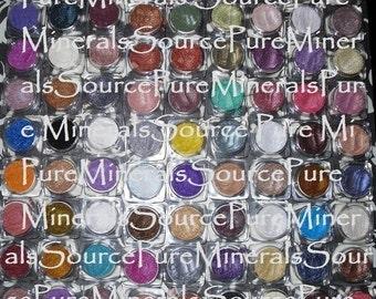 10 Eye Shadow or Eyeliner Samples, Chemcial Free, Gluten Free