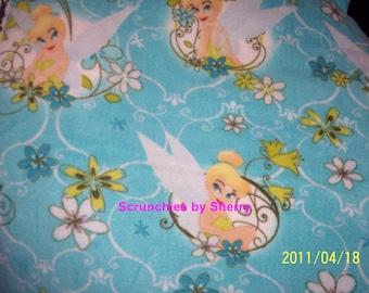 Disney Tinker Bell Fleece Baby Girl Banket Pet Lap Aqua