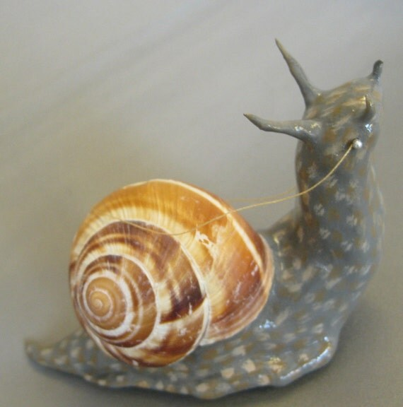 Paper Clay Snail with Bridle