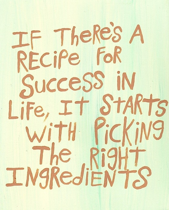 Success In Life Quotes Images: Original WORD ART Painting Recipe For Success In Life By Las