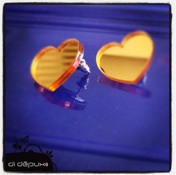 Last one GOLD laser cut acrylic hearts