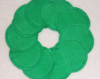 Reusable Cotton Rounds Make-up Remover Pads Green Washable  cosmetic