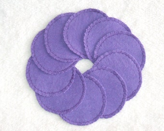 Reusable Cotton Rounds Make-up Remover Pads Purple Washable cosmetic