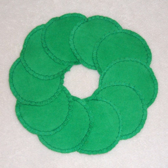 Reusable Cotton Rounds Make-up Remover Pads Green Washable  cosmetic, Ready to ship
