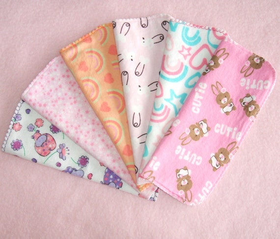 Soft and Scrubby Cloth Baby Wipes Diaper Wipes Girl Prints