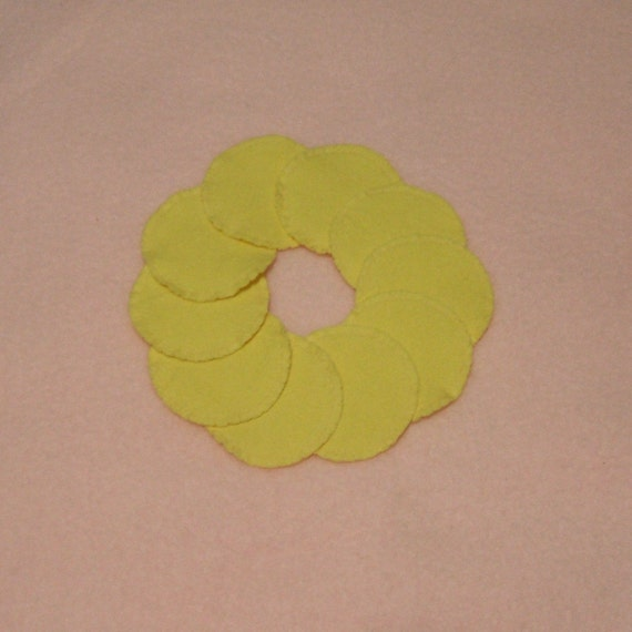 Reusable Cotton Rounds Make-up Remover Pads Washable cosmetic Canary Yellow