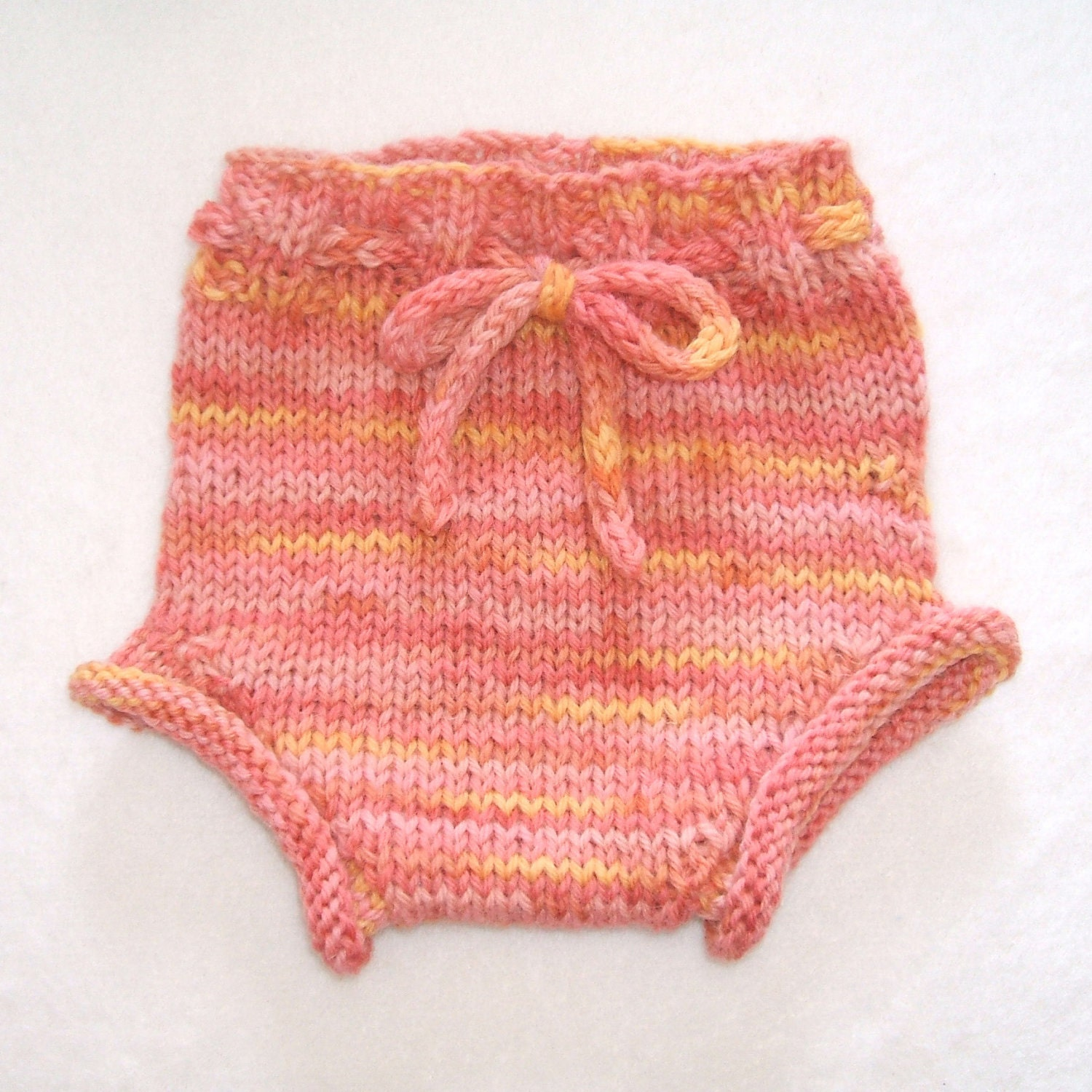 Knitting Pattern For Wool Diaper Covers : Wool Diaper Cover Newborn Hand Knit Wool Soaker by ...