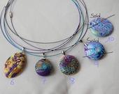 Handmade polymer clay pendants