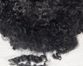 Cotswold Sheep Wool Curls Locks for Spinning, Felting and Doll Hair in natural shades of light to dark Charcoal Gray 4 oz.
