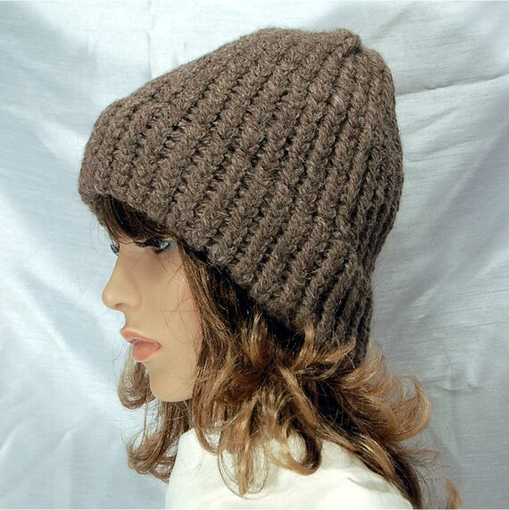 Unisex Hat Beanie Hat Hand Knit Hat Llama Hat Gray Wool