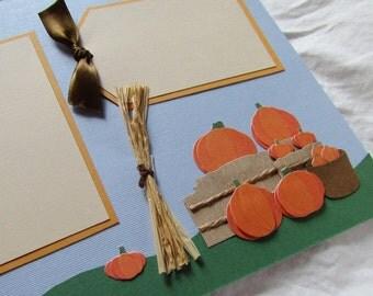 PUMPKIN PATCH 12x12 premade scrapbook pages FaLL AuTuMn