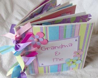 GRANDMA and ME premade PaPeR BaG Scrapbook Album brag book