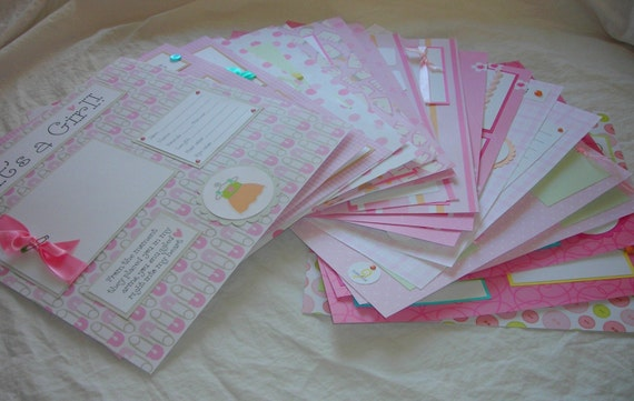 20 BABY GIRL 12x12 Premade Scrapbook Pages for 12x12 FiRsT YeAr ALbUm
