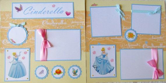 CINDERELLA 12x12 Premade Scrapbook Pages -- DiSNeY PriNCeSS