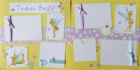 TINKER BELL 12x12 Premade Scrapbook Pages -- DiSNeY PriNCeSS fairy pixie