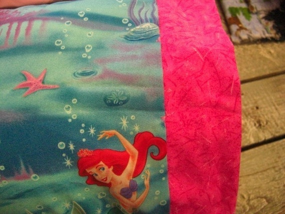 Travel Size Pillow Cases Little Mermaid