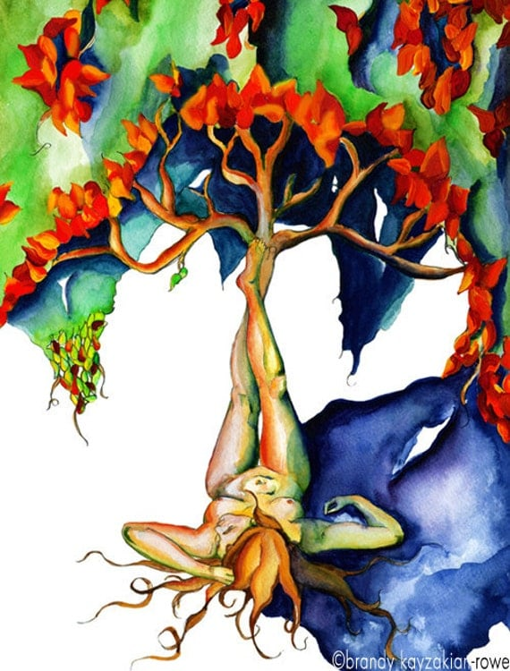 Mother Nature Water Color Painting