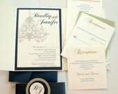 Fancy Chandelier Pocket Wedding Invitation Set