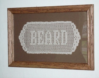 9 LETTERS Hand-crocheted Name Doily