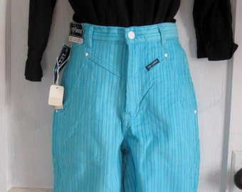 Vintage Bright Blue Corduroy Skinny Jeans with Tags Attached size 3-4