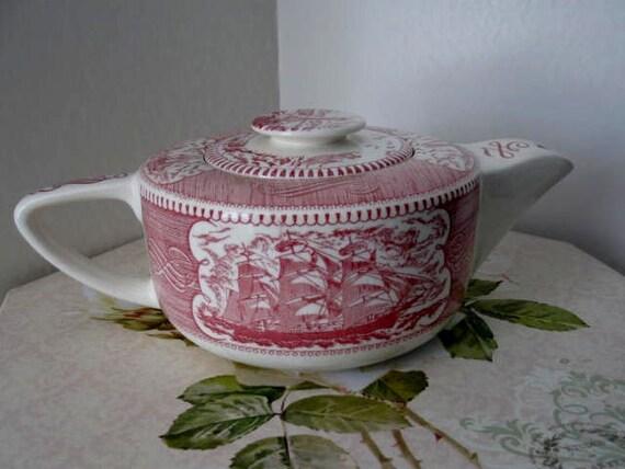 Vintage Nautical Style Teapot