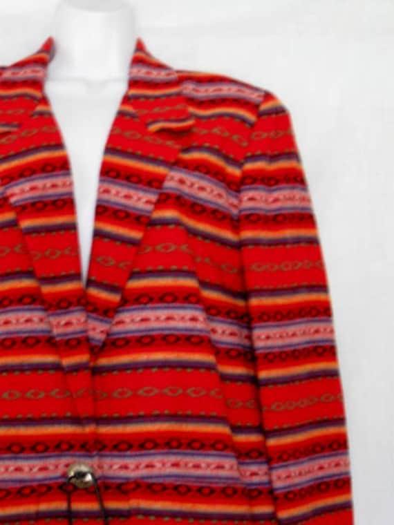 Vintage Blanket Western Boyfriend Jacket Blazer
