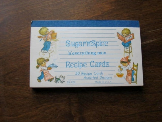 Vintage Book of Sugar n Spice Recipe Cards