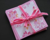 Shimmery Pink Rose Mini Notes Perfect for Thank You