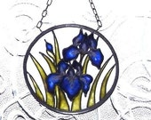 Blue Iris Suncatcher