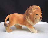 Vintage Lion Figurine by Lefton Made in Japan Animal Big Cat Figural Ceramic Collectible SALE, was 18.00