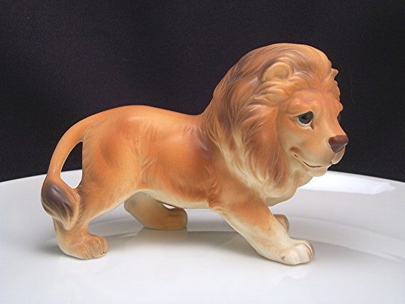 Vintage Lion Figurine By Lefton Made In Japan By