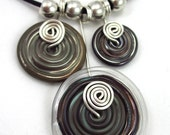 Lampwork Disc Trio Necklace (Limited Edition)