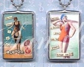 WITH A FRIEND you can be YOuR TRUe SeLF soldered glass PENDANt NECKLACE altered art CoLLAGE CHaRM