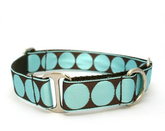 "1"" Breakfast With Audrey buckle or martingale dog collar"
