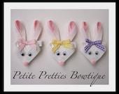 Boutique Easter Bunny Hair Bow Clip
