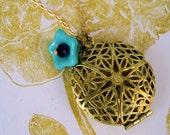 SALE - Filigree Locket Necklace