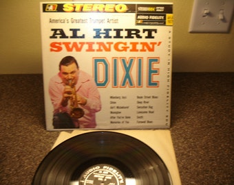 Mardi Gras Music Greatest Trumpet Artist Al Hirt Swingin' Dixie Vintage Vinyl LP Stereodisk