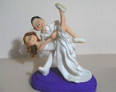 Swing Dancers Wedding Cake Topper