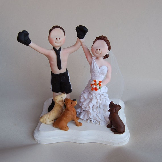 boxing wedding cake toppers items similar to custom made wedding cake topper boxing 12112