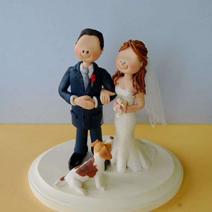 handmade cake toppers wedding