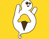 Dessert Ghosts - Ice Cream - 8x10 Print
