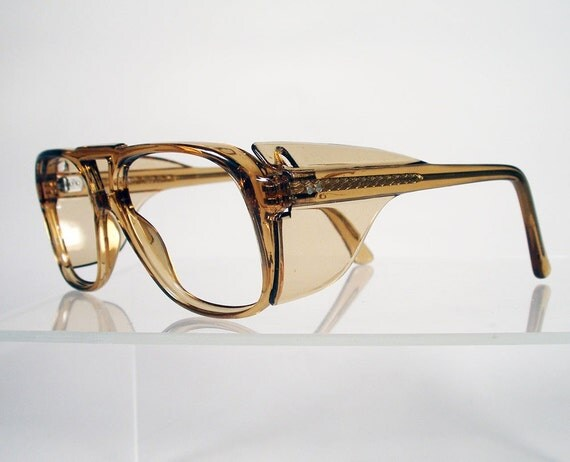 Vintage American Optical Z87 Light Brown Safety Glasses By