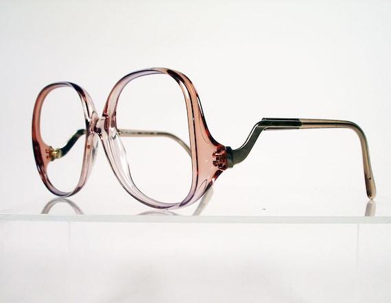 Oversized LUXOTTICA Deeda Brown Fade Eyeglass Frames