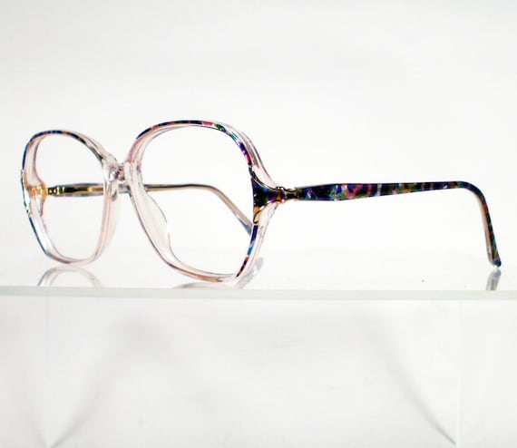 reserved for cynthiachan vintage adolfo multi colored eyeglass