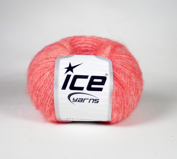 ICE Sfumato Melange Coral Wool Mohair Fingering Sock Yarn