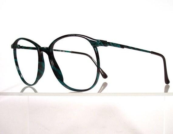 ELLESSE By MARCHON Emerald Green Marble Vintage Eyeglass